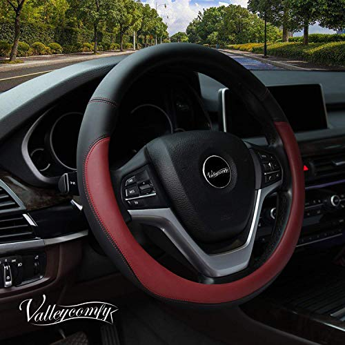 red and grey steering wheel cover - 6