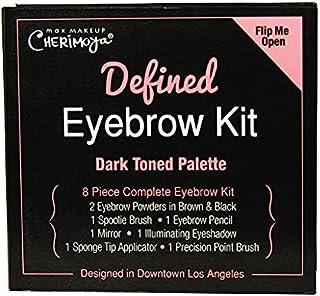 Max Makeup Cherimoya Defined Eyebrow Kit, Dark Tone