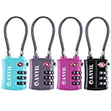 TSA Approved 3 Digit Luggage Cable Locks, Small Combination...