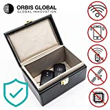 Orbis Global Keyless Car Signal Blocker | Anti Theft Faraday Box Cage | Car Security | RFID Faraday Key Fob Protector Blocker | Keyless Entry Car | Key Faraday Fob Pouch Bag Cover Holder Faraday Box