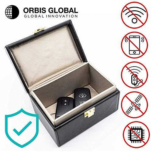 Orbis Global Keyless Car Signal Blocker | Anti Theft Faraday Box Cage | Car Security | RFID Faraday Key Fob Protector Blocker | Keyless Entry Car | Key Faraday Fob Pouch Bag Cover Holder Faraday Box