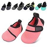 BARERUN Soft Baby Boys Girls Water Shoes Infant Barefoot Quick -Dry Anti- Slip Aqua Sock for Beach Swim Pool Orange 6-12 Months Infant