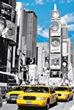 New York Times Square Yellow Cabs Blue Sky Colour - Große