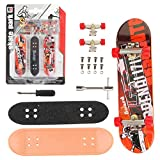 QNFY Patineta de Dedo, DIY Montaje Tablero de Dedo Monopatines Finger Skateboard Mini Skateboards...
