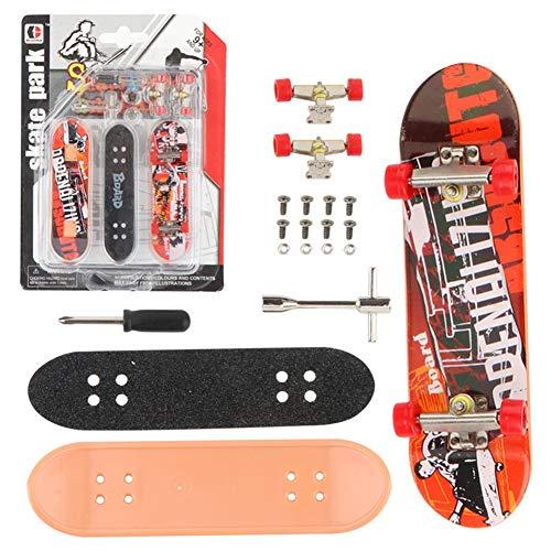 QNFY Finger Skateboard, 2 Stücke Professionelle Mini Fingerboard DIY Montage Deck Truck Griffbrett Skatepark Spielzeug Junge Kinder Geschenk