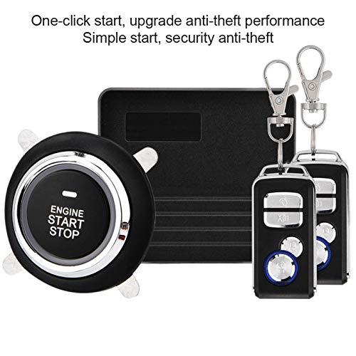 Sistema de Seguridad para automóvil Alarma Universal para automóvil Antirrobo silencioso para camioneta para automóvil de 12V para camioneta(with No. 1 Key)