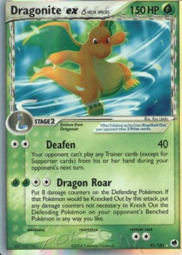 Pokemon EX Dragon Frontiers #91 Dragonite ex [Toy]