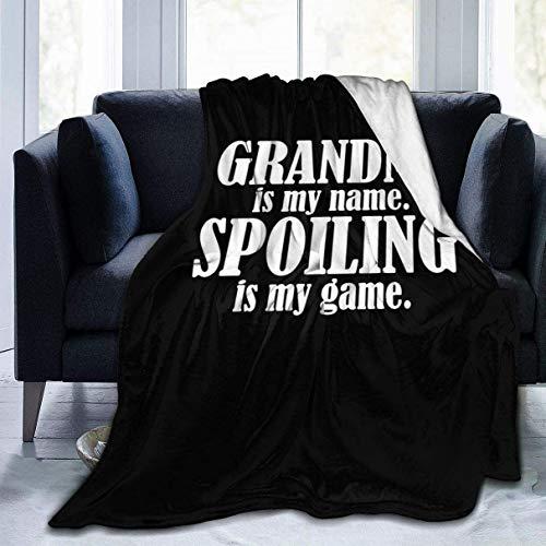Fleece Blanket Grandma is My Name Plush Throw Fuzzy Super Soft Reversible Microfiber Flannel Blankets 50