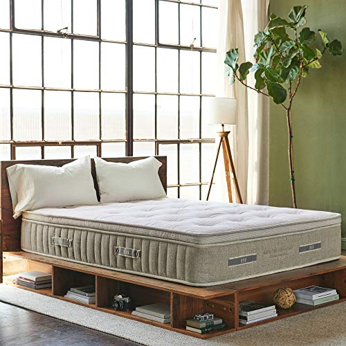 Brentwood Home Cedar Organic Latex Hybrid Mattress, Green, 5 Support Zones, Natural, Non-Toxic,...