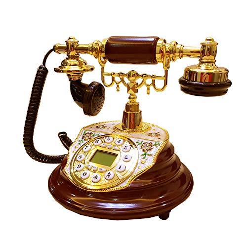 XIAOPENG Teléfonos Antiguos Teléfono Fijo con Cable Vintage Clásico Teléfono Residencial Multifunción Teléfonos de Negocios de Moda Antigua Decoración de Oficina en Casa Teléfonos Fijos