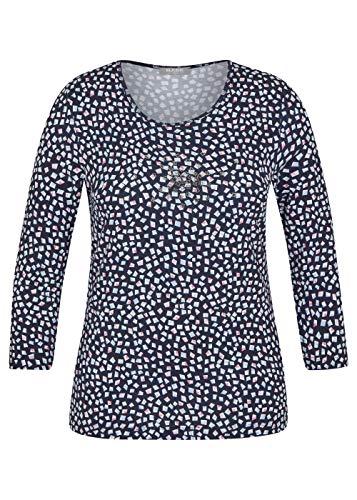 Rabe Camiseta para mujer con brillantes y patrón geométrico marine 44