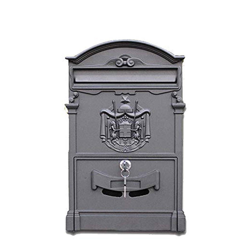 SCMAI 屋外メールボックスレトロヴィンテージヨーロッパアルミ壁掛けメールボックスポストボックス安全なレターボックス外側メールボックス (色 : C)