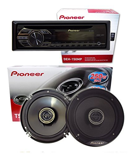 "Pioneer Car Audi Package 1) DEH-150MP w/ remote + 1 Pair) TS-G1645R 6.5"" 2-Way"