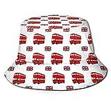 Fasenix London Tourist Bus - Sombrero de Pesca Unisex con Estampado de autobús turístico de Londres para Hombre y Mujer, para Playa, Pesca, Compras, Viajes, Senderismo, Color Negro