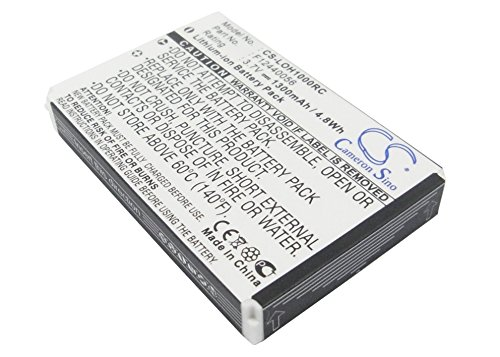 vintrons Akku 1300mAh für Logitech Harmony 1000Fernbedienung, Squeezebox Duet Controller