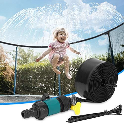Trampoline Sprinkler for Kids Outdoor Trampoline Water Park Play Sprinklers ToysTrampoline Accessories for Boys and Girls  39 ft Black