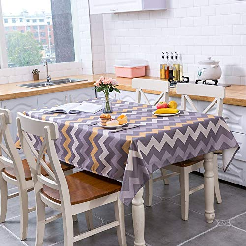 XXDD Mantel geométrico Impermeable Rayas geométricas decoración del hogar Mantel Lavable Cubierta para Sala de Estar A2 140x140cm