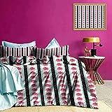 Tagesdecke Bettbezug Set Pink Roses Polka Dots Hypoallergener Bettbezug Superweich & Macht Ihr Bett noch gemütlicher