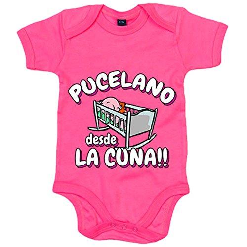 Body bebé Pucelano desde la cuna Valladolid fútbol - Rosa, 12-18 meses