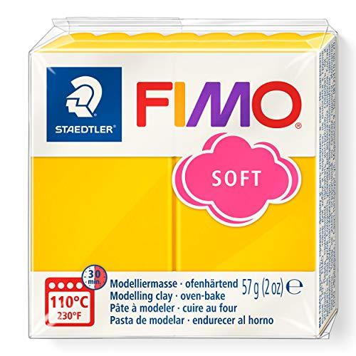 Staedtler 8020 Blocco di pasta modellabile Fimo, 59 gr, Yellow (Yellow)