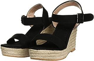 Women Espadrille Wedge Sandal Casual Open Toe Espadrilles Sandals for Summer