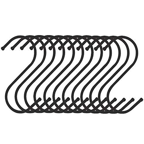 S Shaped Hanging Hooks Heavy Duty Hanger Hook for Kitchen, Bathroom, Bedroom, Shop, Garden Elimeta (12Pcs 3.3
