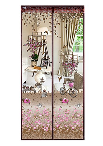 Schöne Sommer Insektenschutz Türvorhang Fliegennetz Türen Fliegengitter mit Magnetvorhang mit starken Magneten Mückennetz Moskitonetz Insektennetz koffee 90 * 210cm