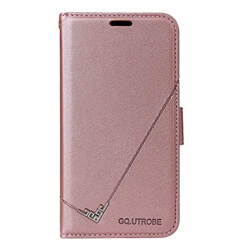 ZIYTB010359 - Funda de piel sintética tipo cartera para Samsung Galaxy S20 (función atril, tarjetero), color oro rosa