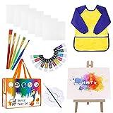 MMTX Kit Pinturas para Niños con Caballete Pintura, Acuarelas Niños de 12 Colores Pinturas...