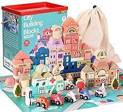 Set di blocchi classici da città: il set di due blocchi da costruzione viene fornito con blocchi da 115 pezzi di diverse forme e colori, 1 manuale, 1 custodia e 1 scatola di immagazzinaggio. I bambini possono usare blocchi di forma per costruire vari...