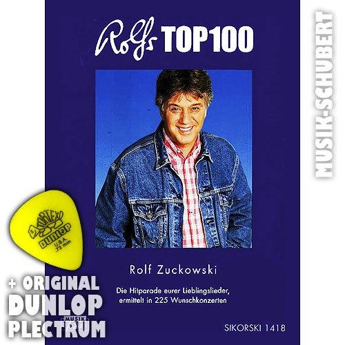 Rolfs TOP 100 incl. plectrum - Het liedenboek voor gelijknamige CD - De Hitparade van uw lievelingslieden, bepaald in 225 wensconcerten (zakboek) van Rolf Suiowski (noten/Sheetmusic)