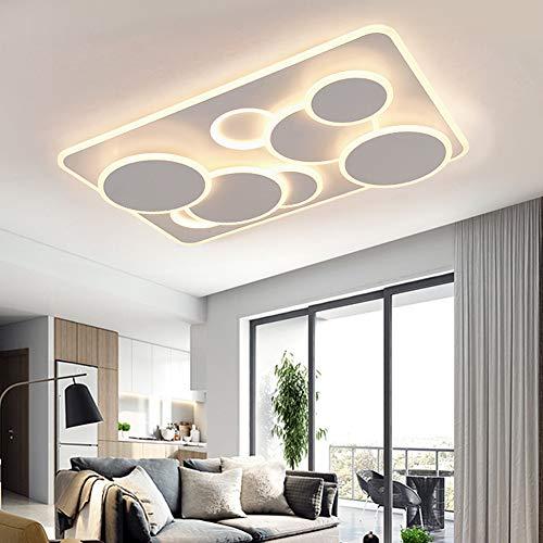 SXFYWYM Smart led-plafondlamp met minimalistische minimalistische plafondlampen, voor slaapkamer, 96 x 65 cm