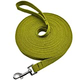 Hoanan Long Dog Leash 10FT/15FT/30FT, Thick Nylon Military Style Tactical Dog Leash for Strong Small Medium Large Dogs Training Exploring Playing Backyard