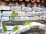 Grösse eines Steines ca. 2 x 1 x 1 cm Material: (Hartgips, keramikähnlicheer Gips, synthetisch aufbereitet) und weitere Komponenten, daher auch im Aussenbereich verwendbar