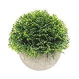 Künstliche Topfpflanze lebendige realistische künstliche Blume Pflanze Gras Papier LP Topf Bonsai Ornament Nicht verblassen Gartentisch Ornament L TINGG (Color : M)