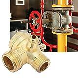 Réservoir clapet anti-retour, laiton compresseur d'air à trois voies unidirectionnelles clapet anti-retour Connect raccords de tuyauterie