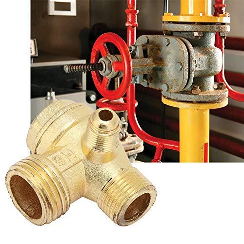 Tanque de válvula de retención, compresor de aire de latón de tres vías unidireccional Válvula de retención Conectar accesorios de tubería