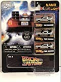 "Jada Toys Back to The Future Time Machine Delorean Bttf 3 Pack Nano 1.65"" Diecast Cars"