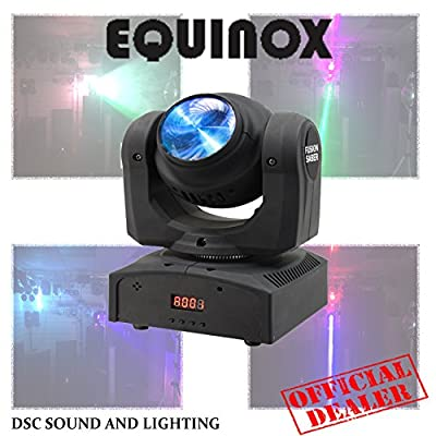 Equinox Fusion Saber Twin Beam Compact LED Moving Head DJ Lighting Effect