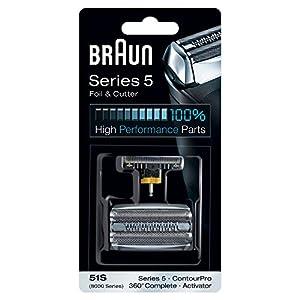 Braun Recambio de la afeitadora eléctrica 51S, compatible con las maquinillas de afeitar Serie 5 (generación anterior), plateado