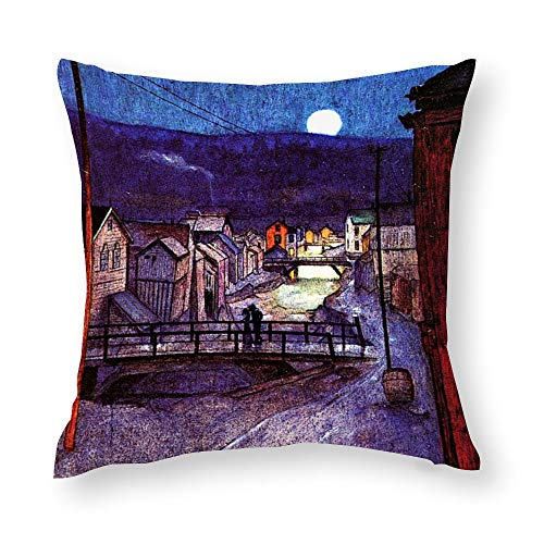 Harald Sohlberg Painting Elegy Throw Pillow Covers Case Cushion Pillowcase with Hidden Zipper Closure for Sofa Home Decor 20 x 20 Inches