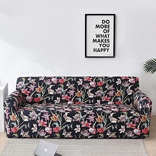 WXQY Sala de Estar Cubierta de sofá Floral elástico Todo Incluido sofá Toalla Cubierta de sofá sofá Inferior Chaise Longue Funda de sillón A25 1 Plaza