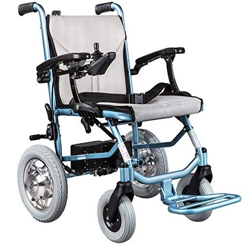 A&DW Leichte Faltbare Rollstühle für Erwachsene, können Handlauf angehoben und abgesenkt, Motorleistung 300W, Doppel Batterie, Dual-Motor