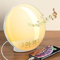 Sunrise Alarm Clock Wake up Light up Alarm Clock Sunrise Dekala Natural Light Alarm Clocks for Bedrooms Sunlight Alarm Clock Kids Smart Digital Clock Radio Gradual Light Color Changing Dawn Simulator