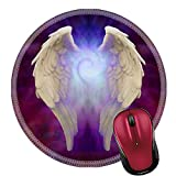 Liili Round Mouse Pad Natural Rubber Mousepad Image ID: 28102198 Angel Wings and Universal Spiral