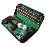 Clenp Set di Putter da Golf, Strumento di Posizionamento Portatile Pieghevole a 3 sezioni per Putter da Golf Rosso Taglia Unica
