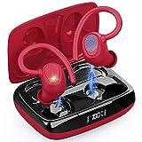 Auriculares Inalambricos Deportivos, Auriculares Bluetooth 5.1 Sport, Cascos Inalambricos Deporte con Ganchos IP7 Impermeable Estéreo Earbuds con Mic y Estuche de Carga USB-C, 48H para Running Viajes