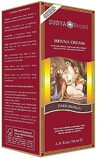 Surya - Dark Brown Henna Cream, 2.31 oz cream