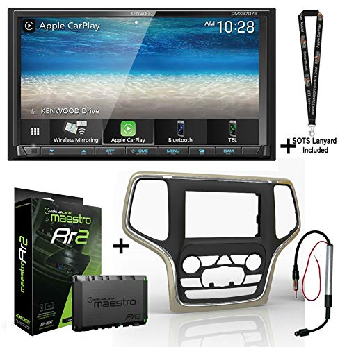 Kenwood DMX9707S Digital Multimedia Receiver + ADS iDatalink KIT-JGC1 Compatible with Select Jeep Grand Cherokee + ADS-MRR2 Module + Sound of Tri-State Lanyard Bundle