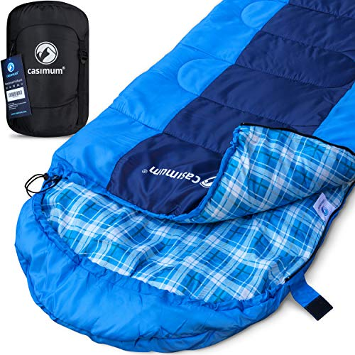 Kompakter Deckenschlafsack für Trekking, Outdoor und Camping - Warmer Frühling und Sommer Schlafsack, extrem bis 5 °C, kleines Packmass, 220x75 cm